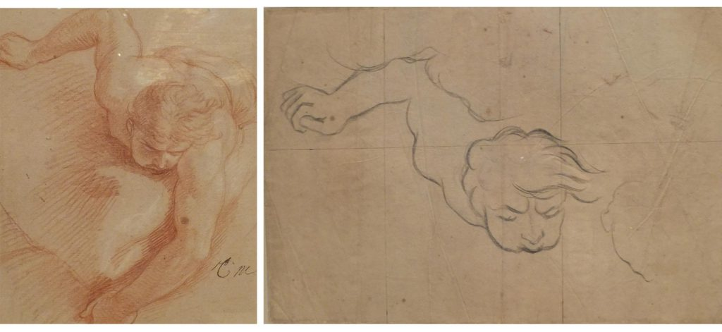 Del boceto inicial al paso al cartón en escala natural para su posterior utilización.