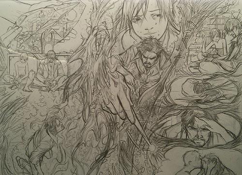 Bocetos de Emma Ríos para Doctor Strange