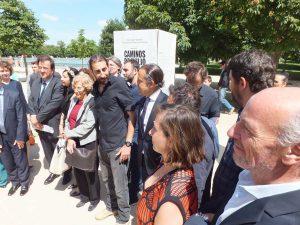 Fotógrafos con la Alcaldesa de Madrid y el Embajador de Francia en España