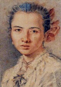 Miguel Jacinto Meléndez (Oviedo, 1679 - Madrid, 1734) Retrato de muchacha, h. 1727-30
